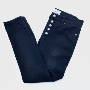 Free People Exposed Button Fly Skinny Jeans Black